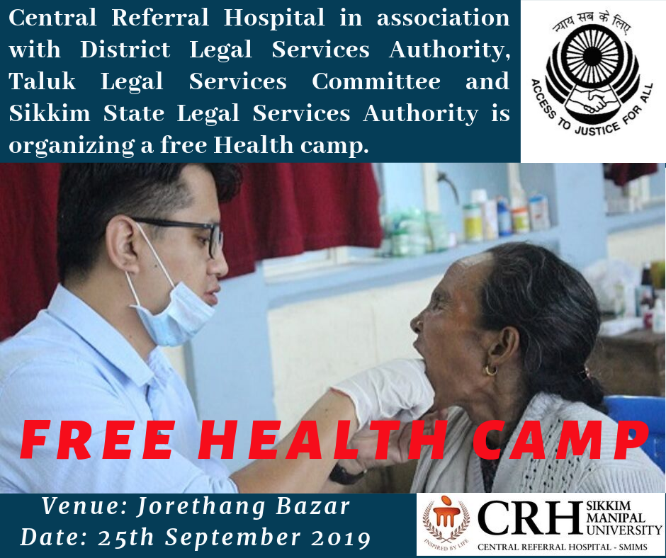 Central Referral Hospital is organizing a free Health camp.