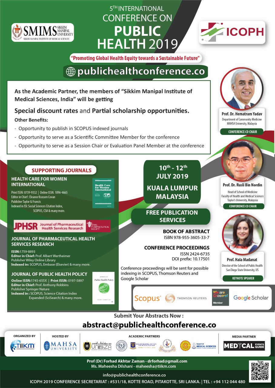 5th International Conference on Public Health 2019 | SMIMS