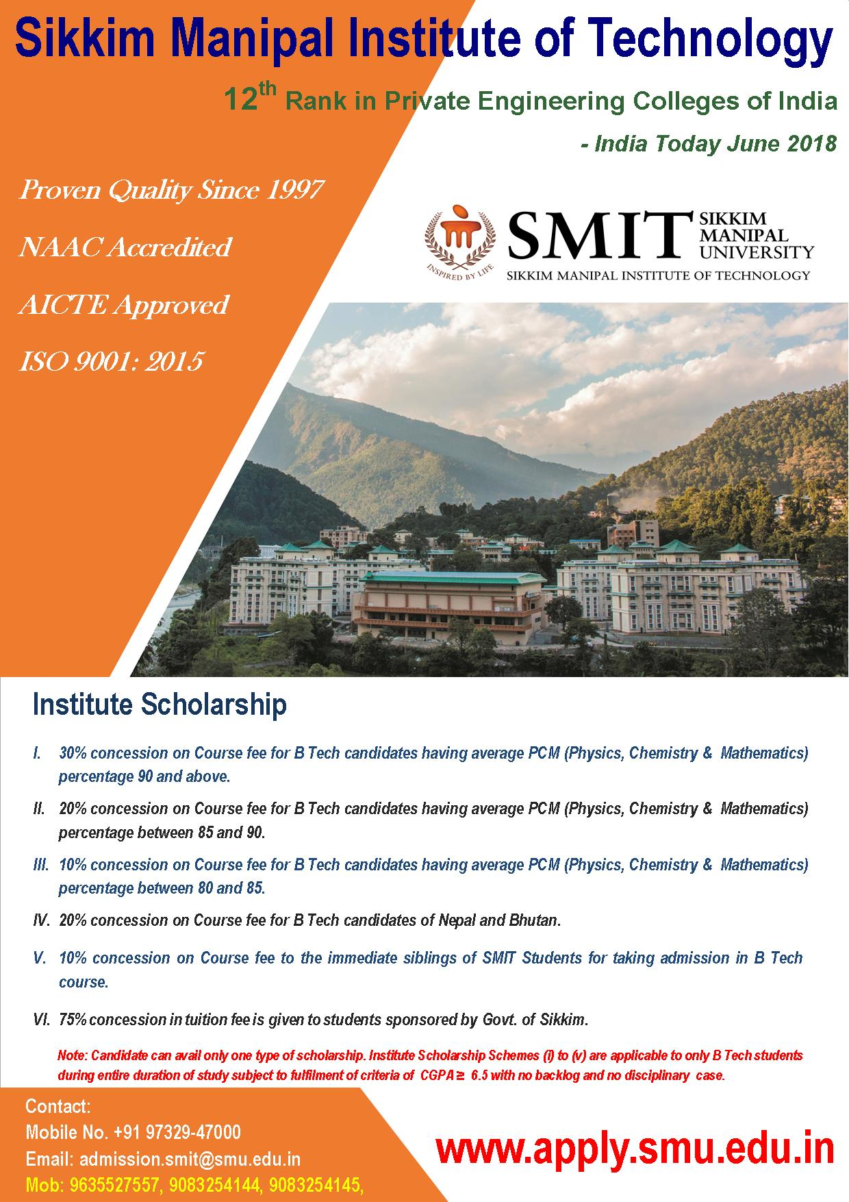 Sikkim Manipal Institute of Technology – Sikkim Manipal University